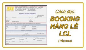 Cách đọc booking hàng lẻ LCL đúng
