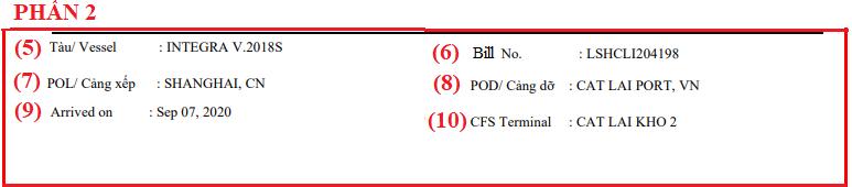 Cách đọc, hiểu nội dung: Lệnh giao hàng (Delivery Order – D/O)